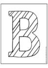 Bilde å fargelegge bokstaven B