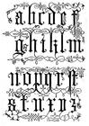 Bilde å fargelegge bokstaver - typesnitt - fra det 15. Ã¥rhundre