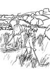 Bilde å fargelegge bønder
