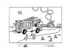 Bilde å fargelegge brannbil
