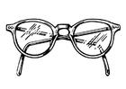 Bilde å fargelegge briller