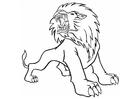 Bilde å fargelegge brølende løve