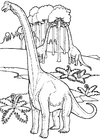 Bilde å fargelegge brontosaurer