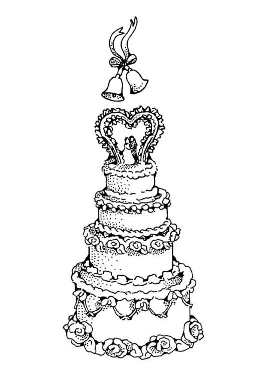 bilde 229 fargelegge bryllupskake gratis bildene for