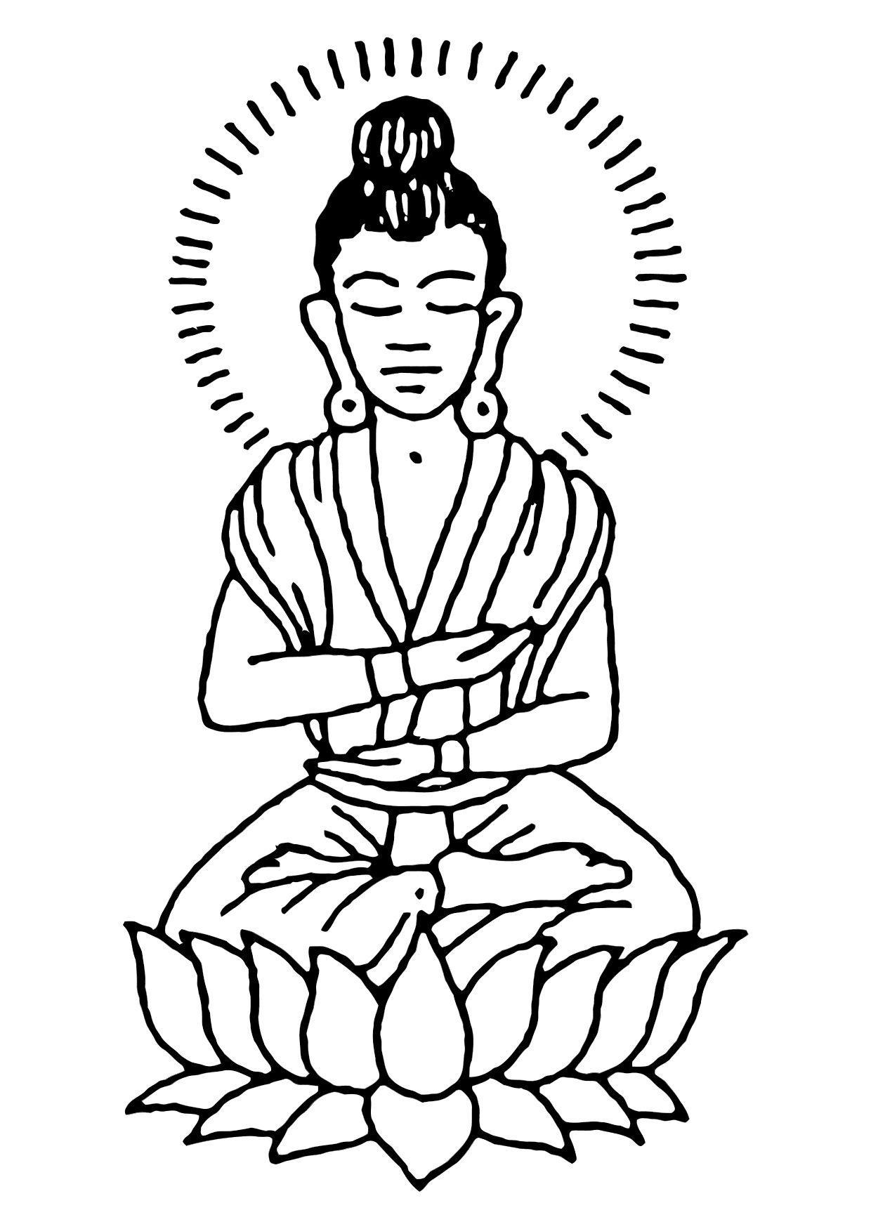 Volwassenen Kleurplaat Boeddha Bilde 229 Fargelegge Buddha Bil 11444