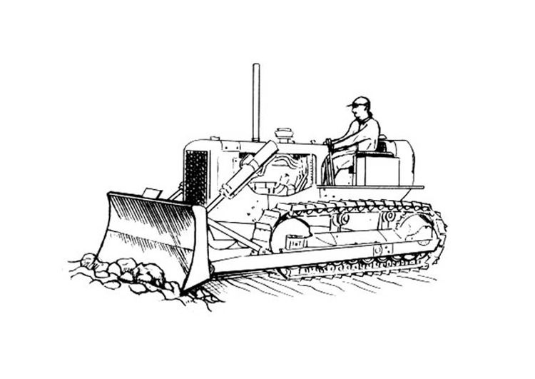 Kleurplaat Bulldozer Bilde 229 Fargelegge Bulldozer Bil 18822