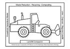 Bilde å fargelegge bulldozer