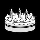 Bilde å fargelegge bursdagskake