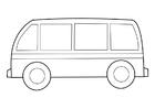 Bilde å fargelegge buss