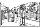 Bilde å fargelegge by