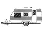 Bilde å fargelegge campingvogn