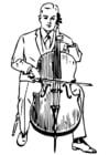 Bilde å fargelegge cello