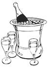 Bilde å fargelegge champagne