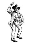 Bilde å fargelegge cowboy