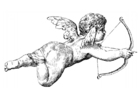 Bilde å fargelegge Cupido