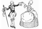 Bilde å fargelegge dans- menuett