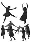 Bilde å fargelegge dans