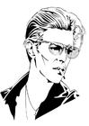 Bilde å fargelegge David Bowie