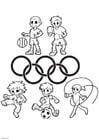 Bilde å fargelegge de olympiske lekene