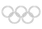 Bilde å fargelegge de olympiske ringene