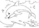 Bilde å fargelegge delfin