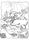 Bilde å fargelegge delfiner 3