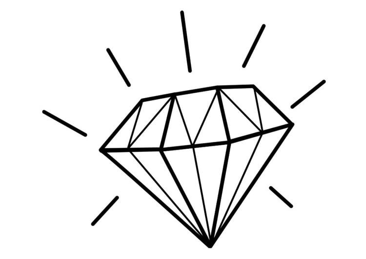 Bilde fargelegge diamant bil 22466 - Diamant dessin ...