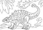 Bilde å fargelegge dinosaur - Ankylosaurus