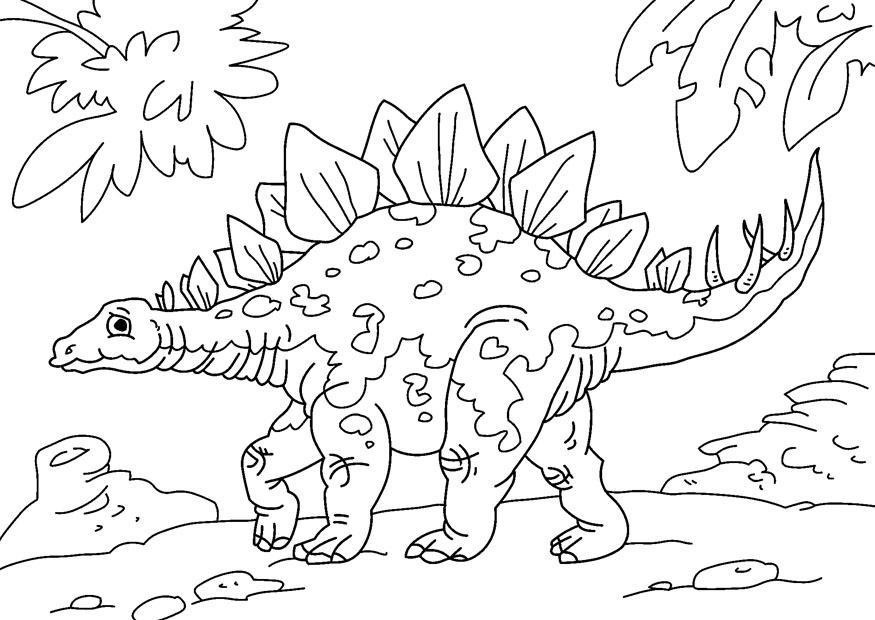 bilde å fargelegge dinosaur  stegosaurus  bil 27626