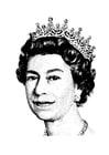 Bilde å fargelegge Dronning Elizabeth II