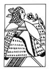 Bilde å fargelegge dronning
