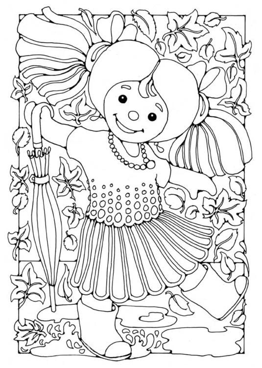 Bilde 229 Fargelegge Dukke Jente Bil 15829