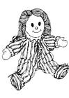 Bilde å fargelegge dukke