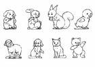 Bilde å fargelegge dyr