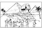 Bilde å fargelegge Egypt