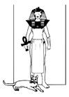 Bilde å fargelegge egyptisk gud
