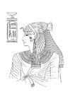 Bilde å fargelegge egyptisk kvinne