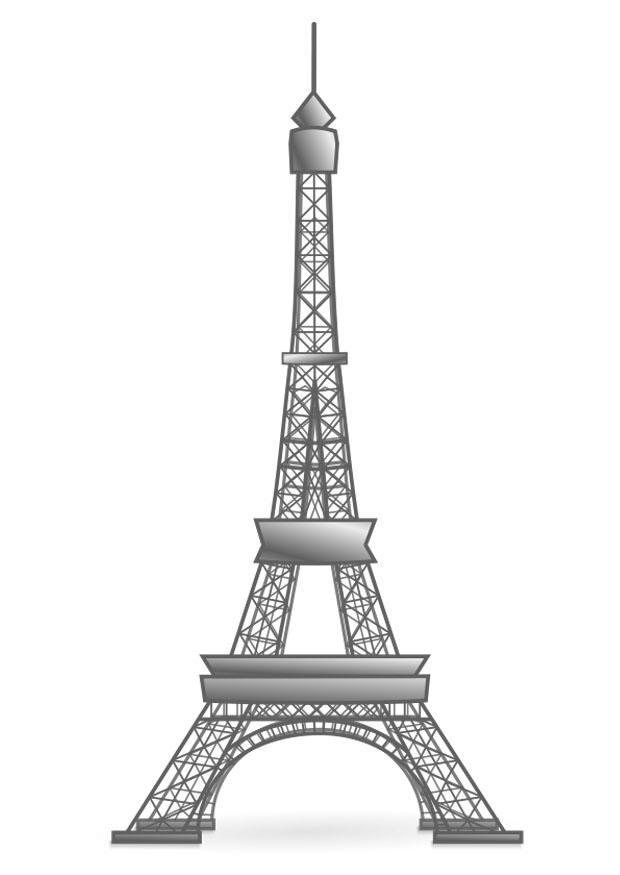 Bilde A Fargelegge Eiffeltarnet Frankrike Gratis Bildene For Fargelegging
