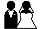 Bilde å fargelegge ekteskap
