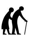 Bilde å fargelegge eldre par