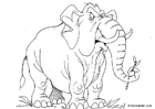Bilde å fargelegge elefant