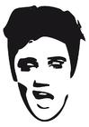 Bilde å fargelegge Elvis Presley