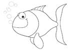 Bilde å fargelegge en liten fisk