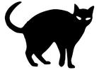 Bilde å fargelegge en svart katt
