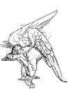 Bilde å fargelegge en trist engel