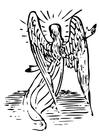 Bilde å fargelegge engel