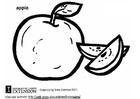 Bilde å fargelegge eple