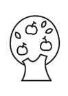 Bilde å fargelegge epletre