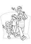 Bilde å fargelegge familie