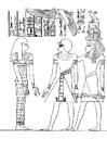 Bilde å fargelegge farao Amenophis III